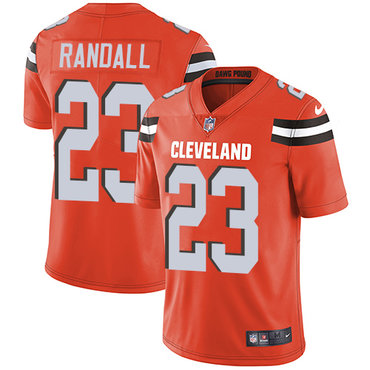 Nike Browns #23 Damarious Randall Orange Alternate Youth Stitched NFL Vapor Untouchable Limited Jersey