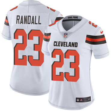 Nike Browns #23 Damarious Randall White Women's Stitched NFL Vapor Untouchable Limited Jersey