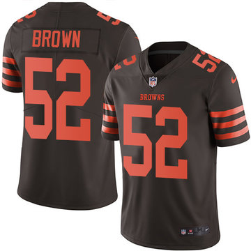 Nike Browns #52 Preston Brown Brown Men's Stitched NFL Limited Rush Jersey