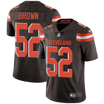 Nike Browns #52 Preston Brown Brown Team Color Men's Stitched NFL Vapor Untouchable Limited Jersey