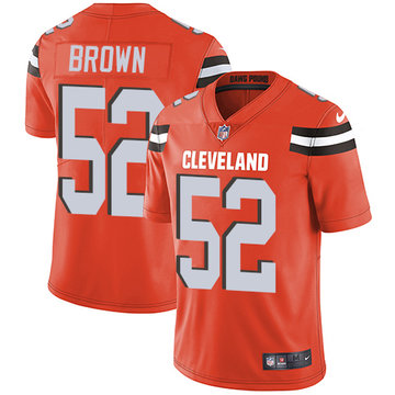 Nike Browns #52 Preston Brown Orange Alternate Men's Stitched NFL Vapor Untouchable Limited Jersey
