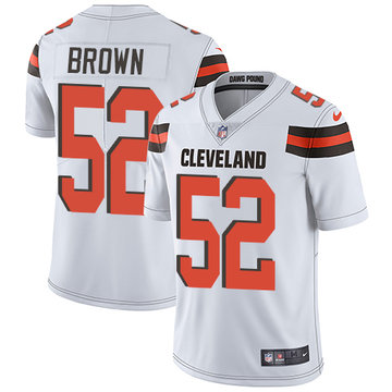 Nike Browns #52 Preston Brown White Men's Stitched NFL Vapor Untouchable Limited Jersey