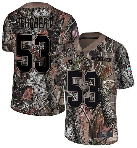 Nike Browns #53 Joe Schobert Camo Men's Stitched NFL Limited Rush Realtree Jersey