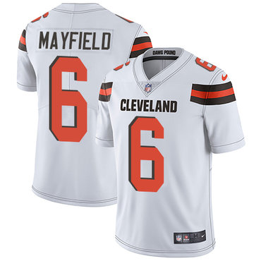Nike Browns #6 Baker Mayfield White Men's Stitched NFL Vapor Untouchable Limited Jersey