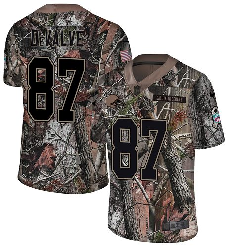 Nike Browns #87 Seth DeValve Camo Men's Stitched NFL Limited Rush Realtree Jersey