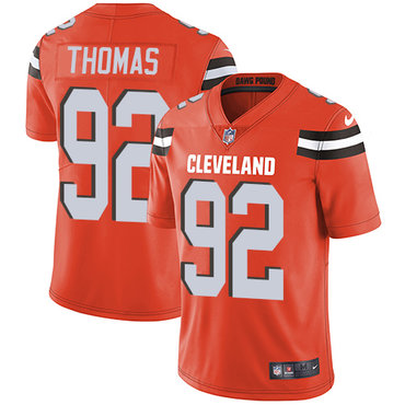 Nike Browns #92 Chad Thomas Orange Alternate Men's Stitched NFL Vapor Untouchable Limited Jersey