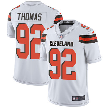 Nike Browns #92 Chad Thomas White Men's Stitched NFL Vapor Untouchable Limited Jersey