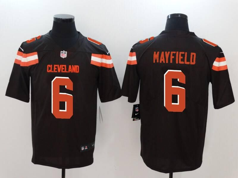 Nike Browns 6 Baker Mayfield Brown Vapor Untouchable Player Limited Jersey
