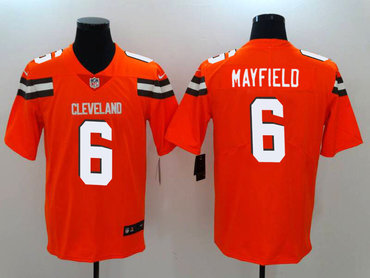 Nike Browns 6 Baker Mayfield Orange Vapor Untouchable Limited Jersey