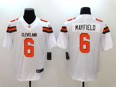 Nike Browns 6 Baker Mayfield White Vapor Untouchable Limited Jersey