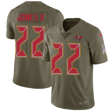 Nike Buccaneers #22 Ronald Jones II Olive Youth Stitched NFL Limited 2017 Salute to Service Jersey