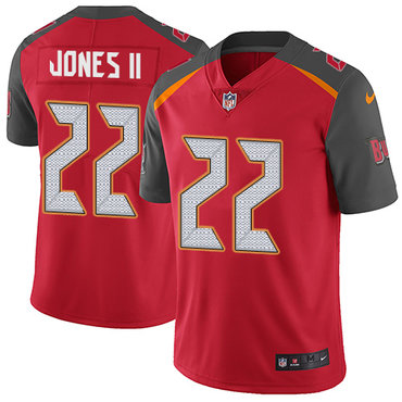 Nike Buccaneers #22 Ronald Jones II Red Team Color Youth Stitched NFL Vapor Untouchable Limited Jersey