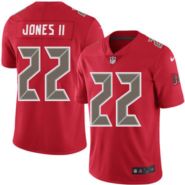 Nike Buccaneers #22 Ronald Jones II Red Youth Stitched NFL Limited Rush Jersey