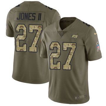 Nike Buccaneers #27 Ronald Jones II Olive Camo Men's Stitched NFL Limited 2017 Salute To Service Jersey