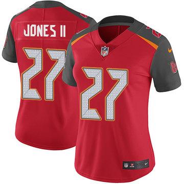 Nike Buccaneers #27 Ronald Jones II Red Team Color Women's Stitched NFL Vapor Untouchable Limited Jersey