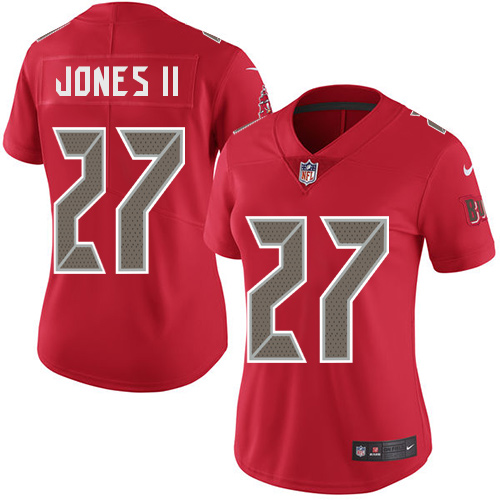 Nike Buccaneers #27 Ronald Jones II Red Women's Stitched NFL Limited Rush Jersey