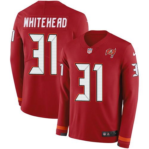 Nike Buccaneers #31 Jordan Whitehead Red Team Color Men's Stitched NFL Limited Therma Long Sleeve Jersey
