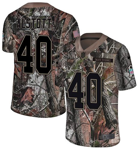 Nike Buccaneers #40 Mike Alstott Camo Men's Stitched NFL Limited Rush Realtree Jersey