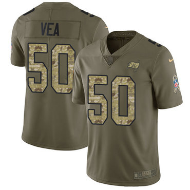 Nike Buccaneers #50 Vita Vea Olive Camo Youth Stitched NFL Limited 2017 Salute to Service Jersey