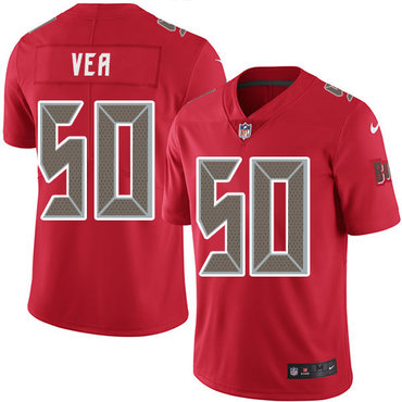 Nike Buccaneers #50 Vita Vea Red Youth Stitched NFL Limited Rush Jersey