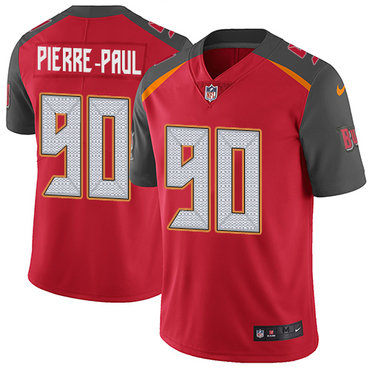 Nike Buccaneers #90 Jason Pierre-Paul Red Team Color Youth Stitched NFL Vapor Untouchable Limited Jersey