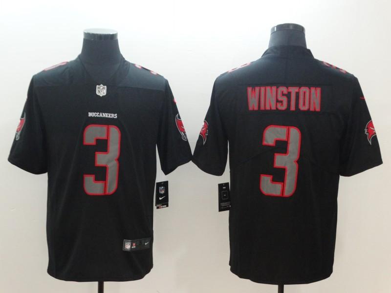 Nike Buccaneers 3 Jameis Winston Black Vapor Impact Limited Jersey