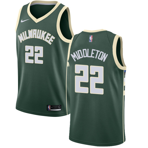 Nike Bucks #22 Khris Middleton Green NBA Swingman Icon Edition Jersey