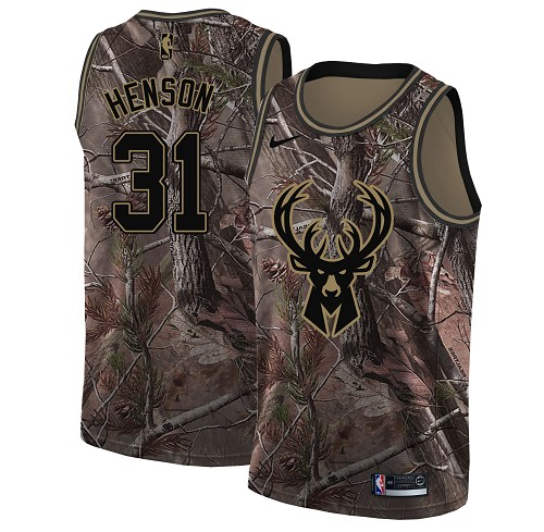 Nike Bucks #31 John Henson Camo Women's NBA Swingman Realtree Collection Jersey