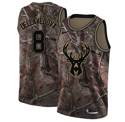 Nike Bucks #8 Matthew Dellavedova Camo Women's NBA Swingman Realtree Collection Jersey
