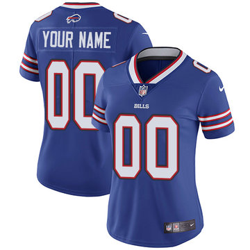 Nike Buffalo Bills Elite Royal Blue Home Women's Jersey  NFL  Vapor Untouchable Customized jerseys
