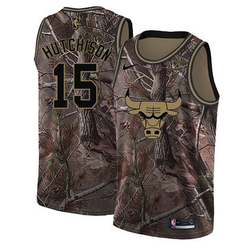 Nike Bulls #15 Chandler Hutchison Camo Women's NBA Swingman Realtree Collection Jersey