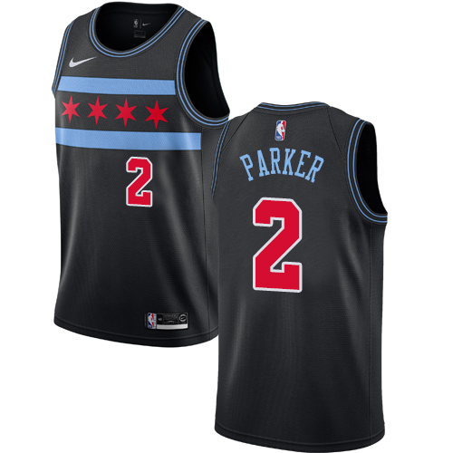 Nike Bulls #2 Jabari Parker Black NBA Swingman City Edition 2018 19 Jersey