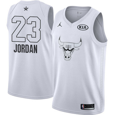 Nike Bulls #23 Michael Jordan White Youth NBA Jordan Swingman 2018 All-Star Game Jersey