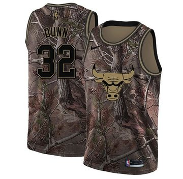 Nike Bulls #32 Kris Dunn Camo Youth NBA Swingman Realtree Collection Jersey