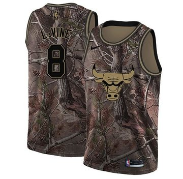 Nike Bulls #8 Zach LaVine Camo Women's NBA Swingman Realtree Collection Jersey