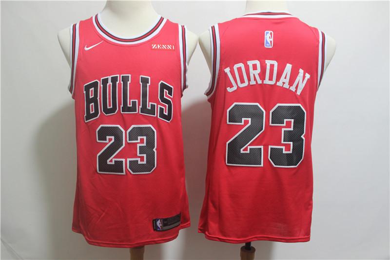 Nike Bulls 23 Michael Jordan Red Nike Swingman Jersey