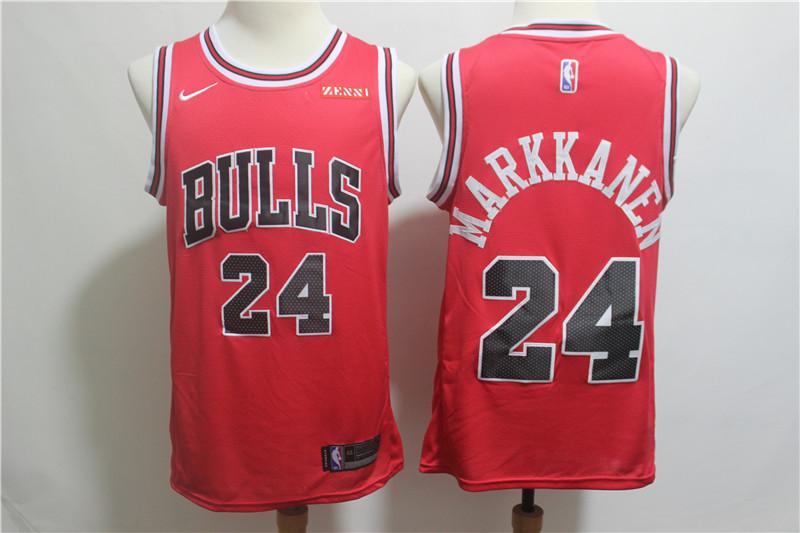 Nike Bulls 24 Lauri Markkanen Red Nike Swingman Jersey