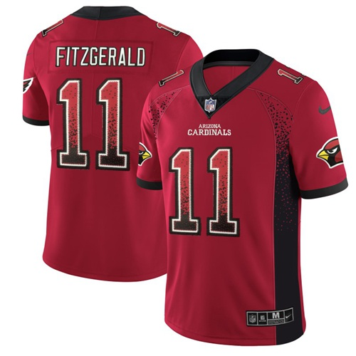 Nike Cardinals #11 Larry Fitzgerald Red Team Color Men's Stitched NFL Limited Rush Drift Fashion Jersey