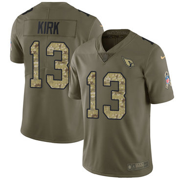 Nike Cardinals #13 Christian Kirk Olive Camo Youth Stitched NFL Limited 2017 Salute to Service Jersey
