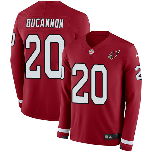 Nike Cardinals #20 Deone Bucannon Red Team Color Men's Stitched NFL Limited Therma Long Sleeve Jersey