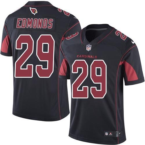 Nike Cardinals #29 Chase Edmonds Black Men's Stitched NFL Limited Rush Jersey