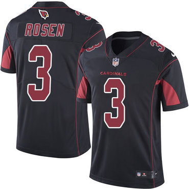 Nike Cardinals #3 Josh Rosen Black Youth Stitched NFL Limited Rush Jersey