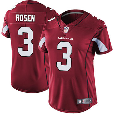 Nike Cardinals #3 Josh Rosen Red Team Color Women's Stitched NFL Vapor Untouchable Limited Jersey