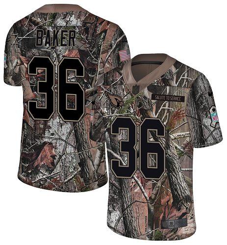 Nike Cardinals #36 Budda Baker Camo Men's Stitched NFL Limited Rush Realtree Jersey