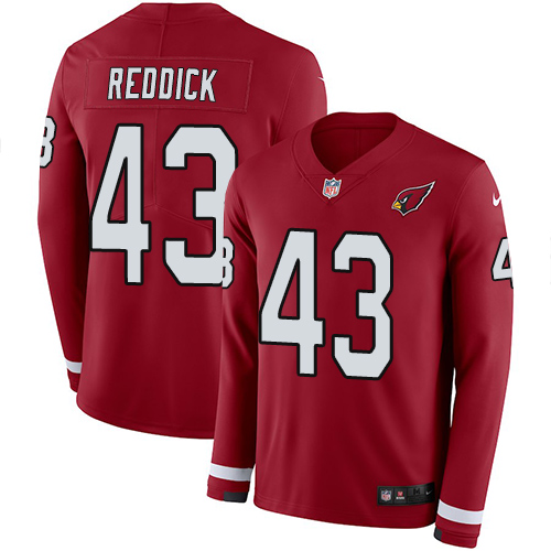 Nike Cardinals #43 Haason Reddick Red Team Color Men's Stitched NFL Limited Therma Long Sleeve Jersey