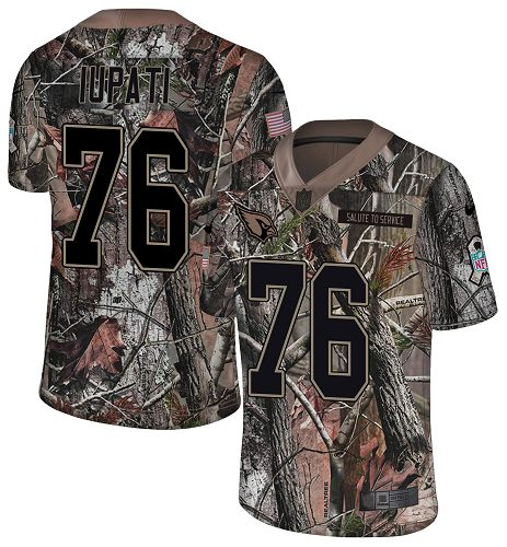 Nike Cardinals #76 Mike Iupati Camo Men's Stitched NFL Limited Rush Realtree Jersey