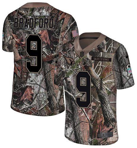 Nike Cardinals #9 Sam Bradford Camo Men's Stitched NFL Limited Rush Realtree Jersey