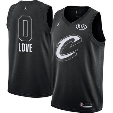 Nike Cavaliers #0 Kevin Love Black NBA Jordan Swingman 2018 All-Star Game Jersey