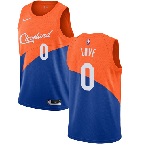 Nike Cavaliers #0 Kevin Love Blue NBA Swingman City Edition 2018 19 Jersey