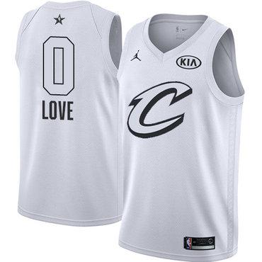 Nike Cavaliers #0 Kevin Love White NBA Jordan Swingman 2018 All-Star Game Jersey